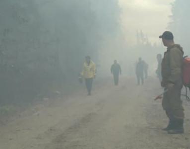Ленинградское объединение ВВС помогает тушить лесные пожары в Карелии